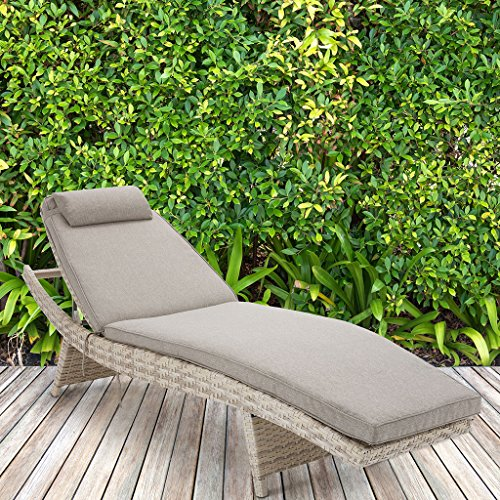 Outdoor Chaise1 Outdoor Chaise:27.16W x 80.5D x 38.58HPillow:15.55L x 7.87WSeat:27.16W x 16.34D x 18.3HSeat Cushion Thickness:1.6Overall Size in Fully Reclined:27.16&quotW x 80.5D x 18.3HMaximum Weight Capacity:400 LbsSandII145-0156