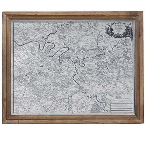 "Paris Wall Art1 Paris Wall Art:18.5""W X 1.77""D X 23.23""HGreyMP167-0239"