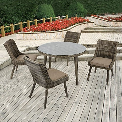 "Outdoor Round Table1 Outdoor Round Table:Dia. 45.875"" x 29.375""H Table Top:Dia.45.875"" x 2""T Glass:Dia. 45.375"" x 0.2""T Leg Size:Dia.45.85"" x 29.25""H Maximum Weight Capacity:100 LbsGreyMP146-0343"