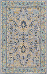 Momeni Rugs TANGITAN30BLU5080 Tangier Collection Hand Tufted Tip Sheared Transitional Area Rug, 5' x 8', Blue