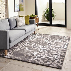 "Momeni Rugs MONTEMO-04BRN7696 Monterey Collection Contemporary Area Rug, 7'6"" x 9'6"", Brown"