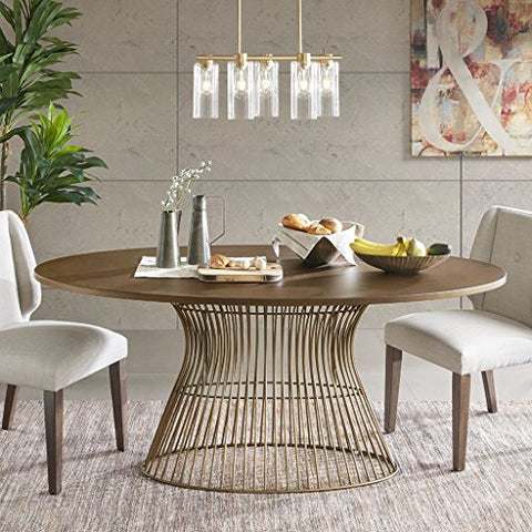 Oval Dining Table1 Dining Table:70Wx38.25Dx30HBronzeIIF20-0062