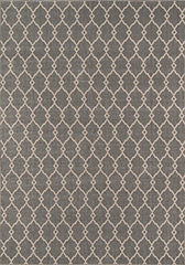 "Momeni Rugs BAJA0BAJ-2GRY5376, Baja Collection Contemporary Indoor & Outdoor Area Rug, Easy to Clean, UV protected & Fade Resistant, 5'3"" x 7'6"", Grey"