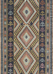 "Momeni Rugs CARAVCAR-9MTI5076 Caravan Collection Hand Woven Transitional Area Rug, 5' x 7'6"", Multicolor"