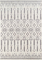 "Momeni Rugs LIMA0LI-11IVY7A9A Lima Collection Contemporary Area Rug, 7'10"" x 9'10"", Ivory"