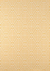 "Momeni Rugs BAJA0BAJ-4YEL860D Baja Collection Contemporary Indoor Outdoor Area Rug, 8'6"" x 13', Yellow"