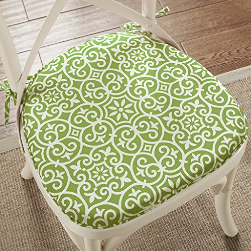"Fret 3M Scotchgard Indoor/Outdoor Chair Pad Pair2 Chair Pads:16""W x 17""L x 1""H (2)GreenMP31-5223"