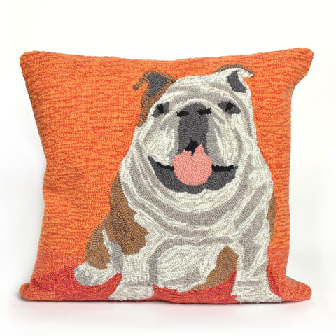 Liora Manne Frontporch Wet Kiss Indoor/Outdoor Pillow Orange 18 Square