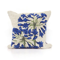 "Liora Manne Frontporch Desert Lily Indoor/Outdoor Pillow Natural 18"" Square"