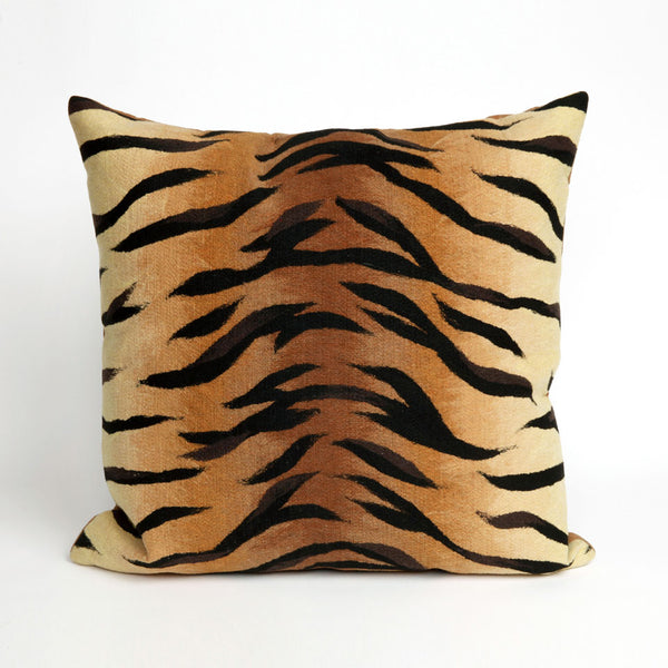 Liora Manne Visions I Tiger Indoor/Outdoor Pillow Brown 20 Square