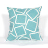 Liora Manne Visions I Squares Indoor/Outdoor Pillow Blue 12X20