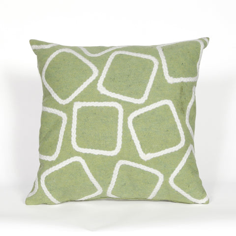 Liora Manne Visions I Squares Indoor/Outdoor Pillow Green 20 Square