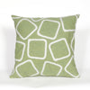 Liora Manne Visions I Squares Indoor/Outdoor Pillow Green 12X20