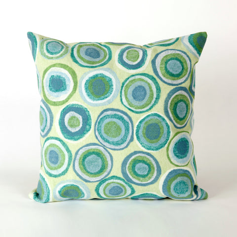 Liora Manne Visions II Puddle Dot Indoor/Outdoor Pillow Green 12X20