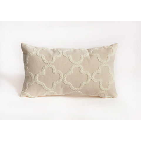 Liora Manne Visions I Crochet Tile Indoor/Outdoor Pillow White 12 Inchesx20 Inches