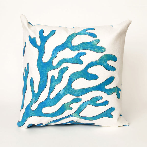 Liora Manne Visions I Coral Indoor/Outdoor Pillow Blue 20 Inches Square