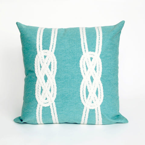 Liora Manne Visions II Double Knot Indoor/Outdoor Pillow Blue 20 Square