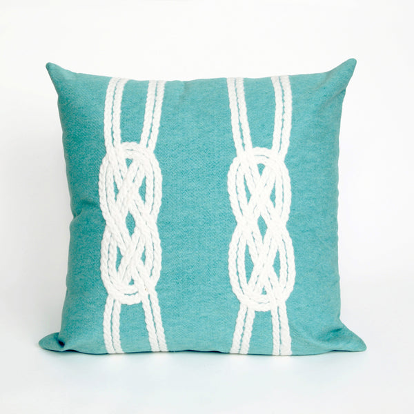 Liora Manne Visions II Double Knot Indoor/Outdoor Pillow Blue 12X20