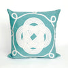 Liora Manne Visions II Ornamental Knot Indoor/Outdoor Pillow Blue 12X20