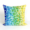 Liora Manne Visions II Ombre Tile Indoor/Outdoor Pillow Blue 12X20