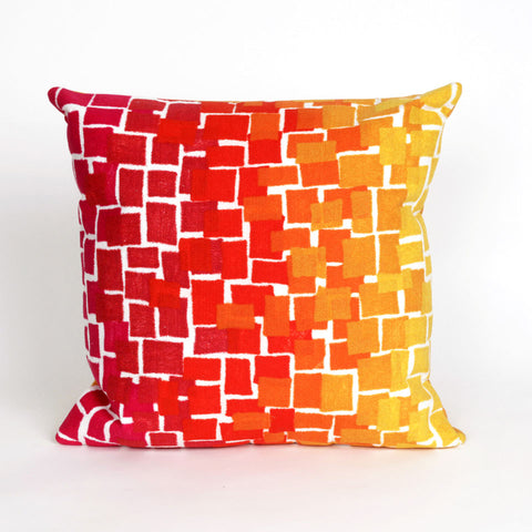 Liora Manne Visions II Ombre Tile Indoor/Outdoor Pillow Red 20 Square
