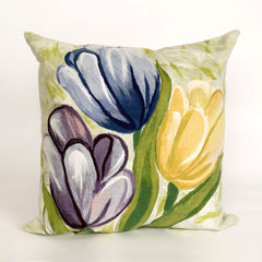 "Liora Manne Visions III Tulips Indoor/Outdoor Pillow Blue 12""X20"""