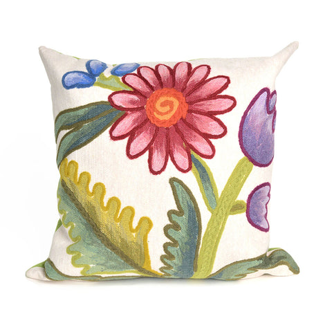 Liora Manne Visions III Gypsy Flower Indoor/Outdoor Pillow Multi 20 Square