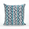 Liora Manne Visions III Braided Stripe Indoor/Outdoor Pillow Blue 20 Square