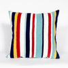 "Liora Manne Visions III Riviera Strp Indoor/Outdoor Pillow Multi 20"" Square"