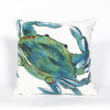 Liora Manne Visions III Blue Crab Indoor/Outdoor Pillow Blue 12X20