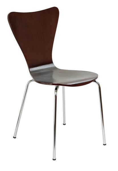 "Bent Ply Chair in Espresso Finish, 34"" x 17"""