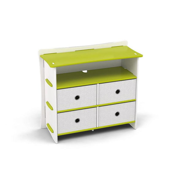 Frog 36 Dresser` Lime Green and White