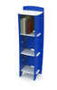 Kids Bookcase` Blue and White` 48 x 16 x 12