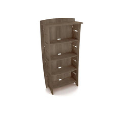 "Adjustable Four-Shelf Bookcase, 59"" x 31"", Grey Driftwood"