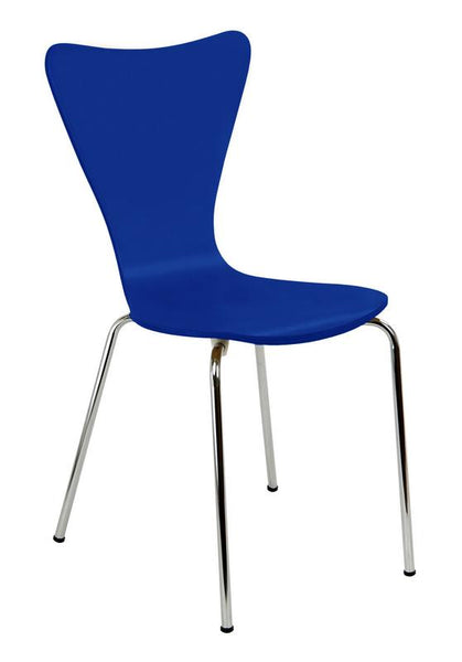 "Bent Ply Chair. Royal Blue, 34"" x 17"""