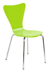 "Bent Ply Chair, Lime Green, 34"" x 17"""