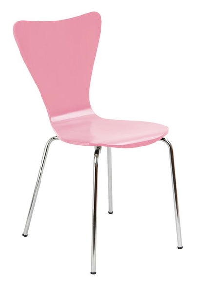 Bent Ply Chair` Pink Finish` 34 x 17