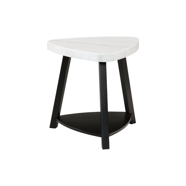 Picket House Furnishings Lena White Marble Top End Table