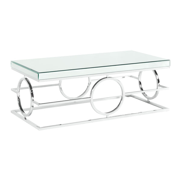 Picket House Furnishings Katie Rectangle Mirrored Coffee Table
