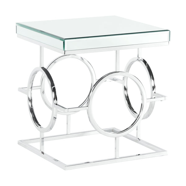 Picket House Furnishings Katie Square Mirrored End Table