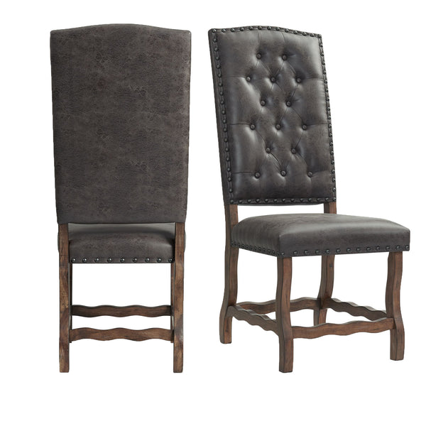 Picket House Furnishings Hayward Tufted Tall Back Side Chair Set