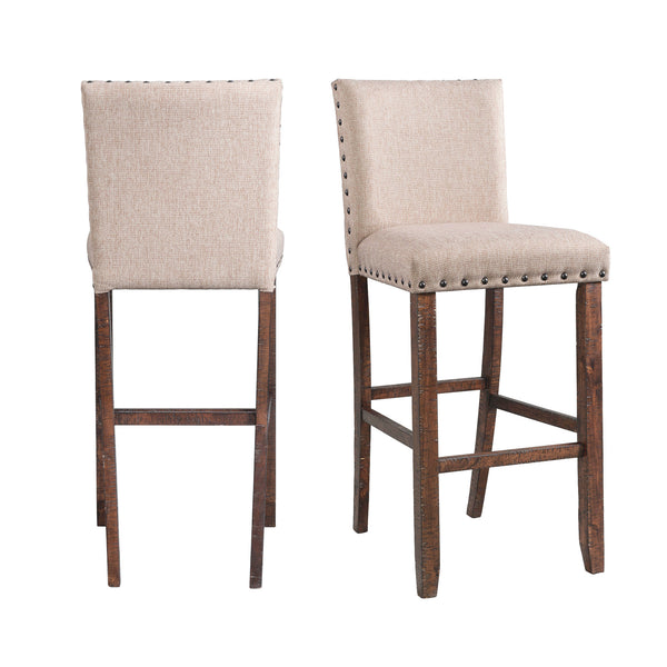 Picket House Furnishings Dex 30 Upholstered Bar Stool Set