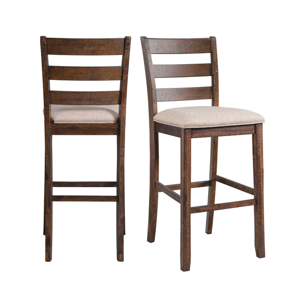 Picket House Furnishings Dex 30 Ladder Back Bar Stool Set