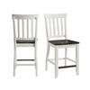 Picket House Furnishings Jamison Two Tone Counter Height Side Chair Set