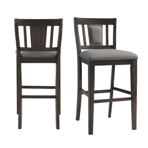 Picket House Furnishings Steele 30 Slat Back Bar Stool Set