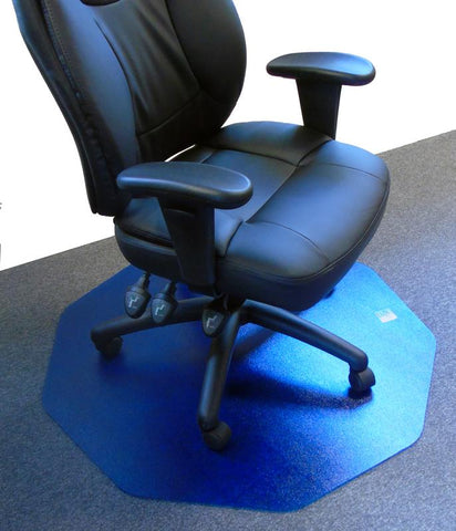 Cleartex 9Mat Ultimat Polycarbonate Chair mat for Low & Medium Pile Carpets up to 1/2 in Cobalt Blue(38 X 39)