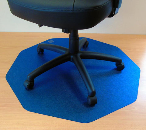 Cleartex 9Mat Ultimat Polycarbonate Chair mat for Hard Floor in Cobalt Blue (38 X 39)