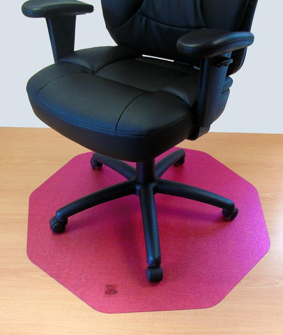 Cleartex 9Mat Ultimat Polycarbonate Chair mat for Hard Floor in Cerise Pink (38 X 39)