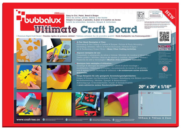 "Ultimate Creative Craft Board, 20""x30"" in Heart Red (2 Pack) A superior choice to foam board."
