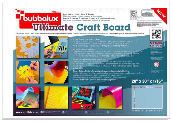 "Ultimate Creative Craft Board, 20""x30"" in Arctic White (2 Pack) A superior choice to foam board."